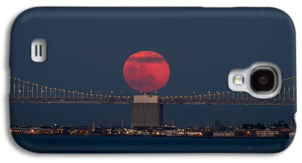 Moonrise Galaxy S4 Cases - Moonrise Bay Bridge Fort Baker Galaxy S4 Case by David Yu