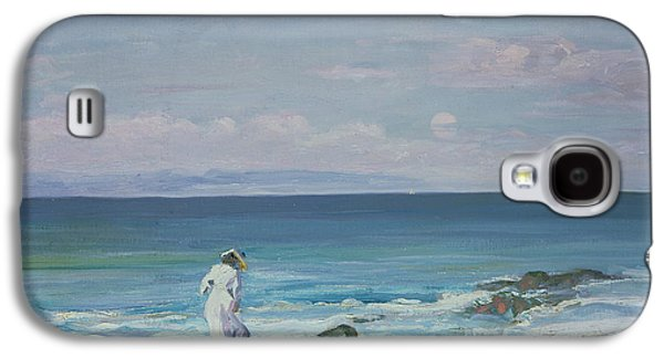 On The Beach Galaxy S4 Cases - Moonrise Galaxy S4 Case by Sir John Lavery