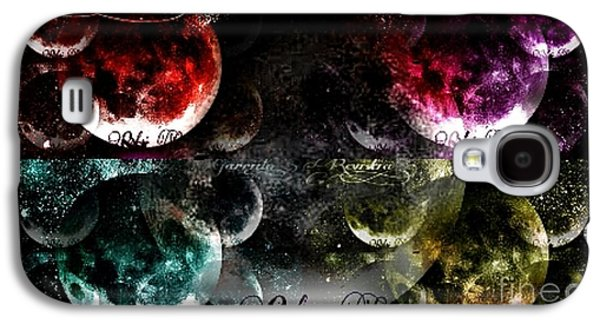 Abstract Digital Drawings Galaxy S4 Cases - Moons Dance Multiple Galaxy S4 Case by Revistia Garrido