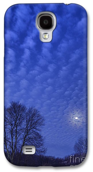 Outbuildings Galaxy S4 Cases - Moonset over Mountains Galaxy S4 Case by Thomas R Fletcher
