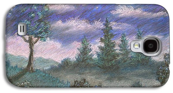 Skylines Pastels Galaxy S4 Cases - Moonshadow Galaxy S4 Case by Michael Heikkinen