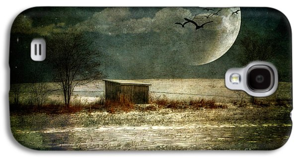 Shed Digital Art Galaxy S4 Cases - Moonstruck Galaxy S4 Case by Lois Bryan