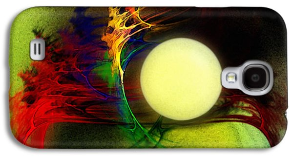 Modern Abstract Galaxy S4 Cases - Moony Galaxy S4 Case by Karin Kuhlmann