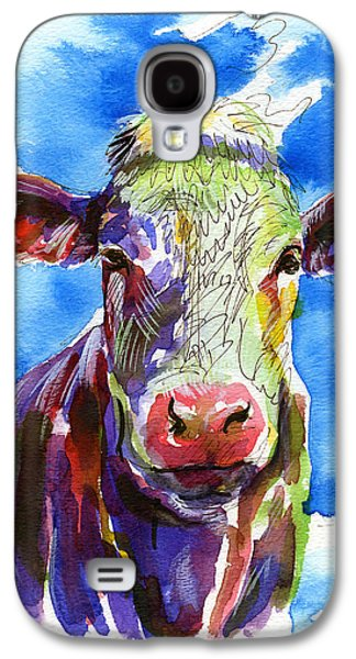 Angus Steer Paintings Galaxy S4 Cases - Moooo Galaxy S4 Case by Bill Stork