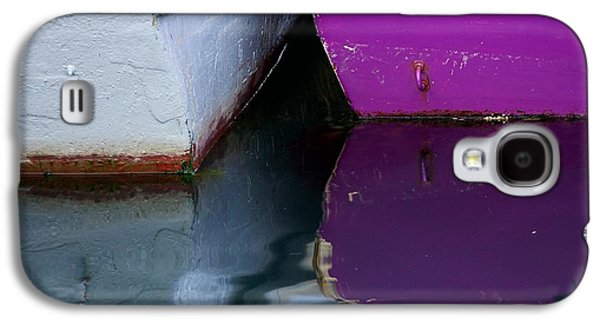 Transportation Photographs Galaxy S4 Cases - Moored Dinghies Galaxy S4 Case by Stuart Litoff