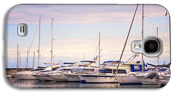 Quiet Time Photographs Galaxy S4 Cases - Moored Yachts. For Yachts Lovers I. Benalmadena Puerto Marina Galaxy S4 Case by Jenny Rainbow