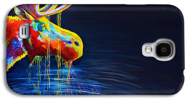 Drips Paintings Galaxy S4 Cases - Moose Drool   Galaxy S4 Case by Teshia Art