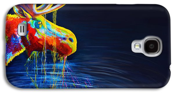Drip Paintings Galaxy S4 Cases - Moose Drool   Galaxy S4 Case by Teshia Art