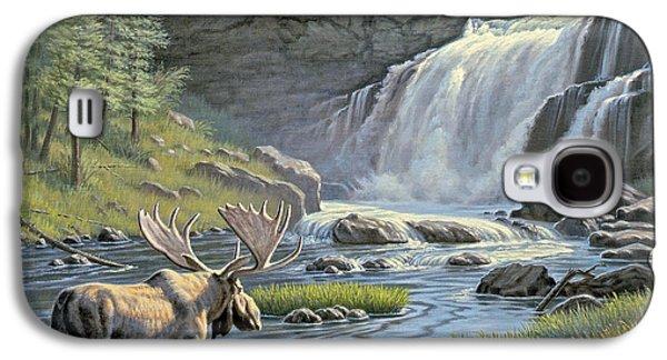 Waterfalls Paintings Galaxy S4 Cases - Moose Falls Galaxy S4 Case by Paul Krapf