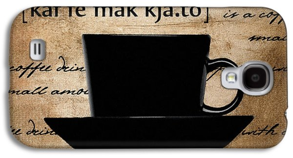 Espresso Galaxy S4 Cases - More Than A Flavor Galaxy S4 Case by Lourry Legarde