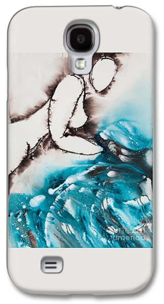 Lesbian Paintings Galaxy S4 Cases - More Than Series No. 2032 Galaxy S4 Case by Ilisa  Millermoon