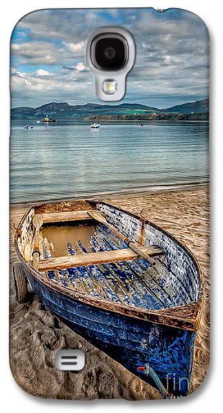 Beach Landscape Digital Galaxy S4 Cases - Morfa Nefyn Boat Galaxy S4 Case by Adrian Evans