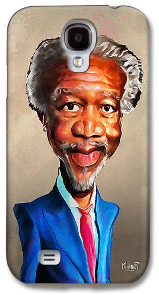 African-american Galaxy S4 Cases - Morgan Freeman Galaxy S4 Case by Anthony Mwangi