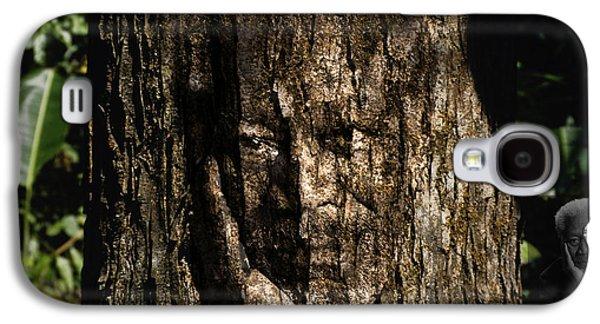 Abstract Digital Paintings Galaxy S4 Cases - Morgan Freeman Roots digital painting Galaxy S4 Case by Georgeta Blanaru