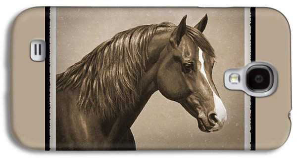 Chestnut Horse Galaxy S4 Cases - Morgan Horse Old Photo FX Galaxy S4 Case by Crista Forest