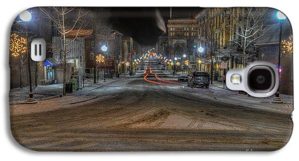 Dan Friend Galaxy S4 Cases - Morgantown High Street on cold snowy night  Galaxy S4 Case by Dan Friend