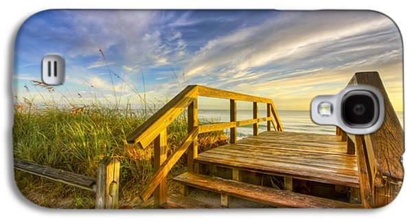 Landscapes Photographs Galaxy S4 Cases - Morning Beach Walk Galaxy S4 Case by Debra and Dave Vanderlaan