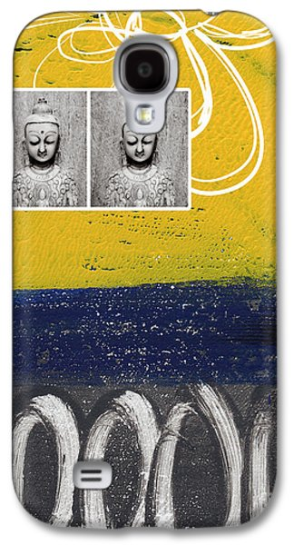 Studio Mixed Media Galaxy S4 Cases - Morning Buddha Galaxy S4 Case by Linda Woods