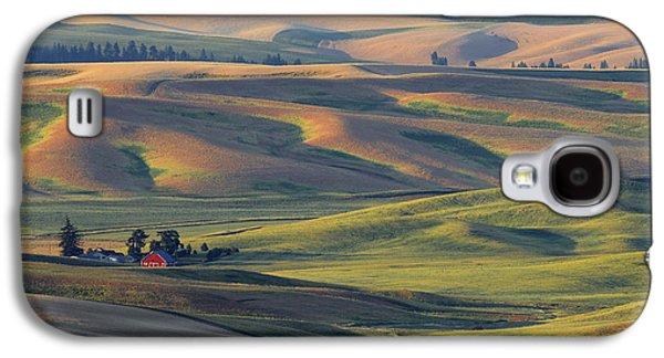 Contour Farming Galaxy S4 Cases - Morning Calm Galaxy S4 Case by Latah Trail Foundation