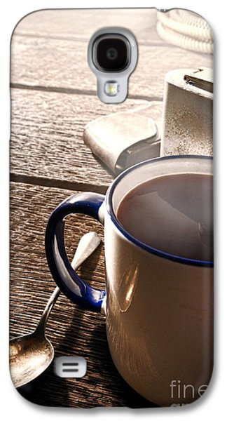 Coffee Drinking Galaxy S4 Cases - Morning Coffee at the Ranch  Galaxy S4 Case by Olivier Le Queinec