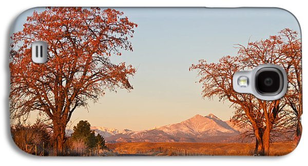 Landscape Acrylic Prints Galaxy S4 Cases - Morning Country Drive Longs Peak View Galaxy S4 Case by James BO  Insogna