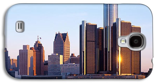 Renaissance Center Galaxy S4 Cases - Morning, Detroit, Michigan, Usa Galaxy S4 Case by Panoramic Images