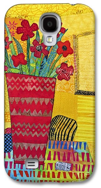 Colorful Abstract Tapestries - Textiles Galaxy S4 Cases - Morning Dreams Galaxy S4 Case by Susan Rienzo