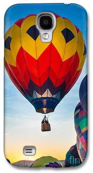 Hot Air Balloon Galaxy S4 Cases - Morning flight Galaxy S4 Case by Inge Johnsson