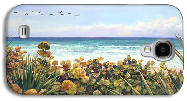 Beach Landscape Galaxy S4 Cases - Morning Flyby Galaxy S4 Case by Laurie Hein