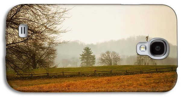 Battlefield Site Galaxy S4 Cases - Morning Fog at Gettysburg Galaxy S4 Case by Mountain Dreams