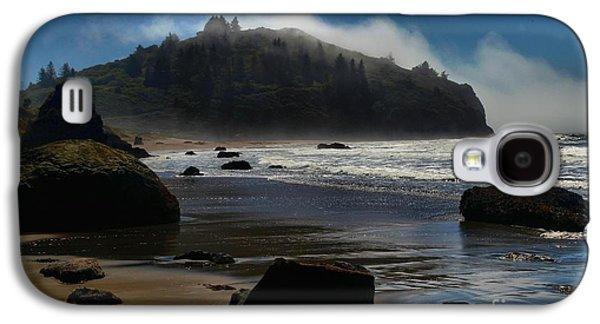 Foggy Beach Galaxy S4 Cases - Morning Fog Burn Galaxy S4 Case by Adam Jewell