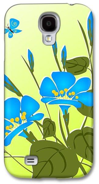 Greeting Digital Art Galaxy S4 Cases - Morning Glory Galaxy S4 Case by Anastasiya Malakhova