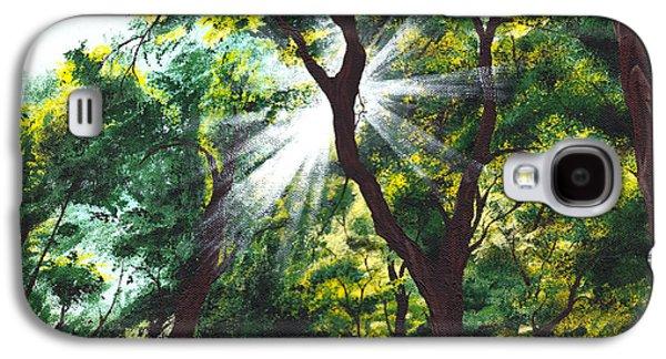 Sun Rays Paintings Galaxy S4 Cases - Morning Glory Galaxy S4 Case by Joe Burgess