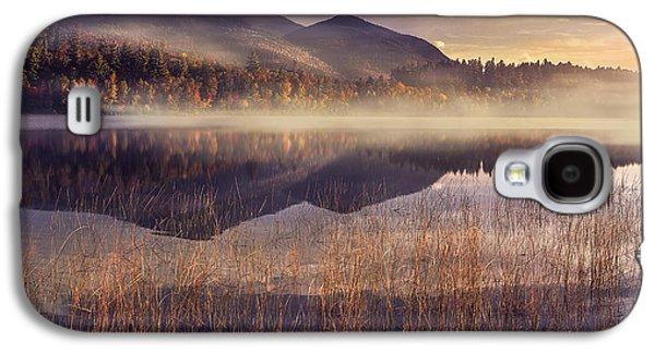 Fog Mist Galaxy S4 Cases - Morning in Adirondacks Galaxy S4 Case by Magda  Bognar