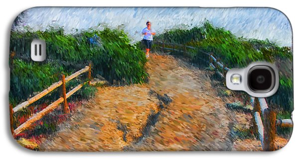 Jogging Galaxy S4 Cases - Morning Jog Galaxy S4 Case by Tom Griffithe