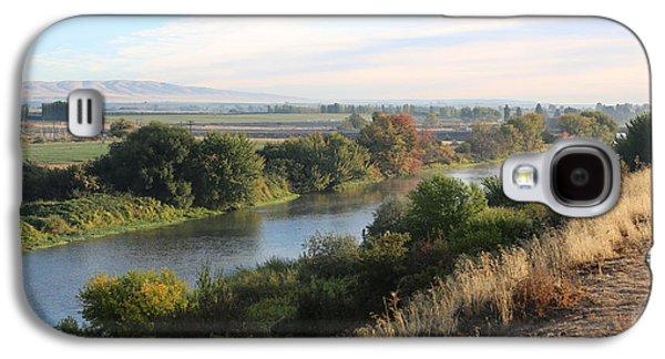 Yakima Valley Galaxy S4 Cases - Morning Light in Prosser Galaxy S4 Case by Carol Groenen