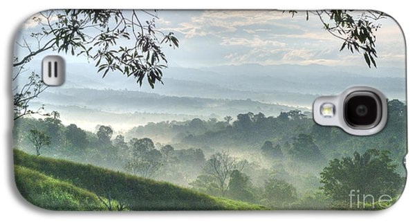 Pasture Scenes Photographs Galaxy S4 Cases - Morning Mist Galaxy S4 Case by Heiko Koehrer-Wagner