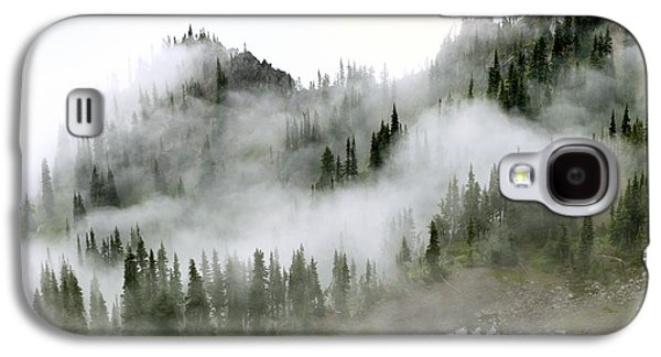Fog Mist Galaxy S4 Cases - Morning mist in Olympic National Park Galaxy S4 Case by King Wu
