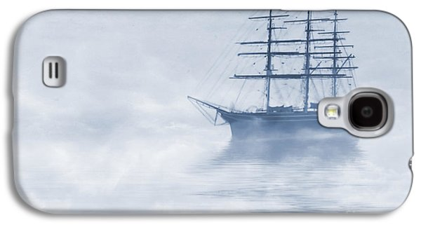 Sailing Ship Galaxy S4 Cases - Morning Mists Cyanotype Galaxy S4 Case by John Edwards