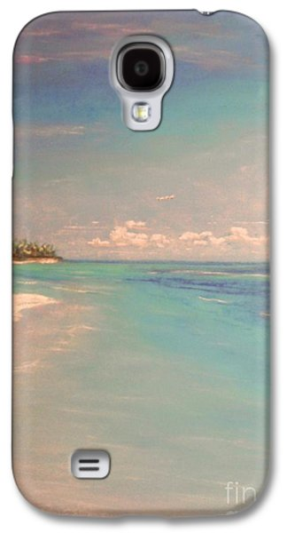 Beach Landscape Pastels Galaxy S4 Cases - Morning On The Beach Galaxy S4 Case by The Beach  Dreamer