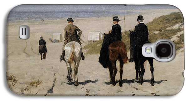 Beach Landscape Galaxy S4 Cases - Morning Ride Along The Beach, 1876, By Anton Mauve 1838-1888 Galaxy S4 Case by Bridgeman Images