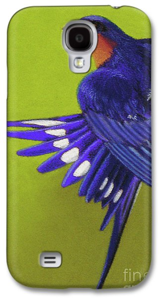 Mud Nest Galaxy S4 Cases - Morning Ritual barn swallow Galaxy S4 Case by Tracy L Teeter