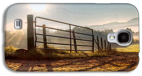 Old Roadway Galaxy S4 Cases - Morning Shadows Galaxy S4 Case by Debra and Dave Vanderlaan
