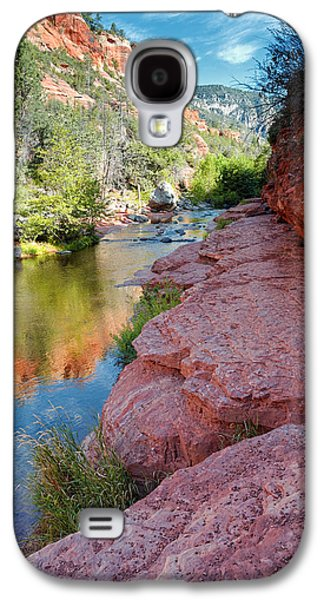 Cathedral Rock Galaxy S4 Cases - Morning Sun on Oak Creek - Slide Rock State Park Sedona Arizona Galaxy S4 Case by Silvio Ligutti