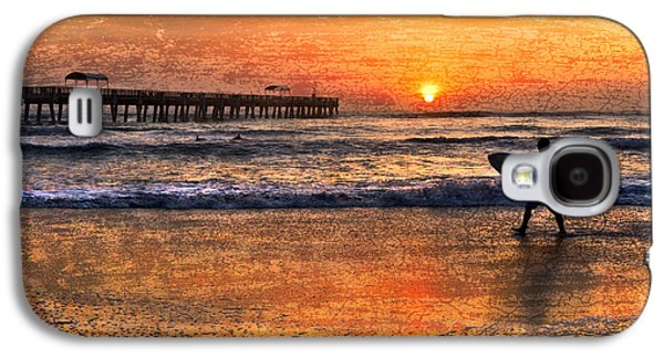 Blue Abstracts Galaxy S4 Cases - Morning Surf Galaxy S4 Case by Debra and Dave Vanderlaan
