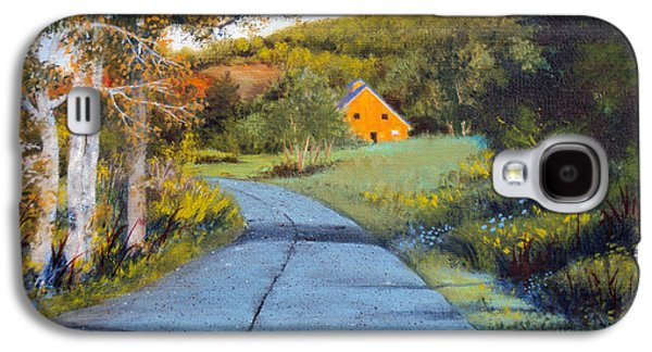 Maine Roads Paintings Galaxy S4 Cases - Morning Walk Galaxy S4 Case by Laura Tasheiko