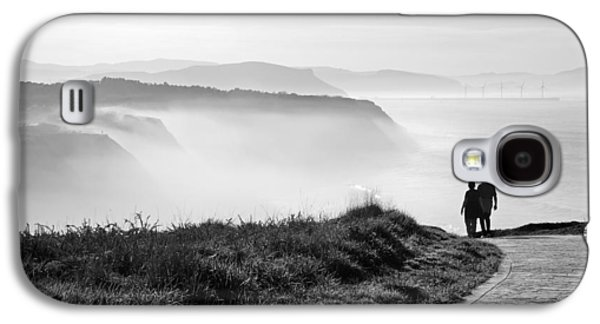 Ocean Galaxy S4 Cases - Morning Walk With Sea Mist Galaxy S4 Case by Mikel Martinez de Osaba