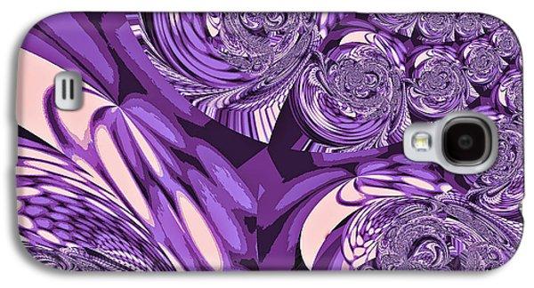 Grapes Art Deco Galaxy S4 Cases - Moroccan Lights - Purple Galaxy S4 Case by Absinthe Art By Michelle LeAnn Scott