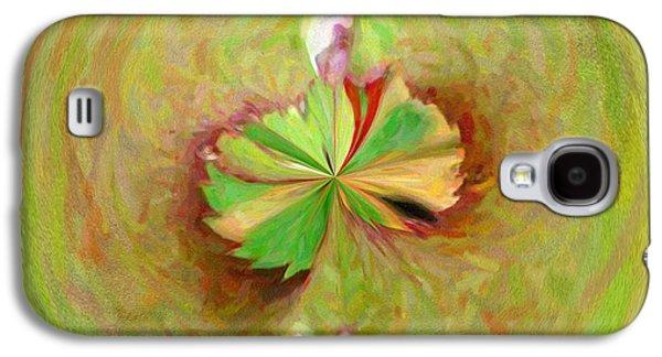 Morphed Galaxy S4 Cases - Morphed Art Globe 21 Galaxy S4 Case by Rhonda Barrett