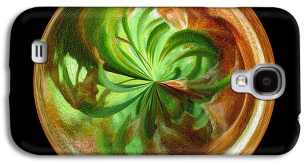 Morphed Galaxy S4 Cases - Morphed Art Globes 16 Galaxy S4 Case by Rhonda Barrett